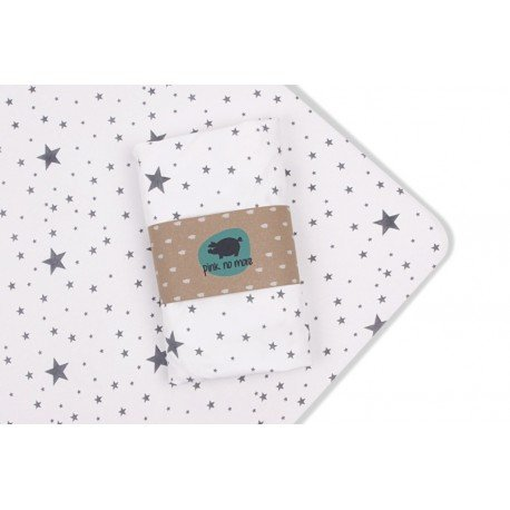 PINK SHEET WITH NO MORE BEDS eraser 140x70cm STARS