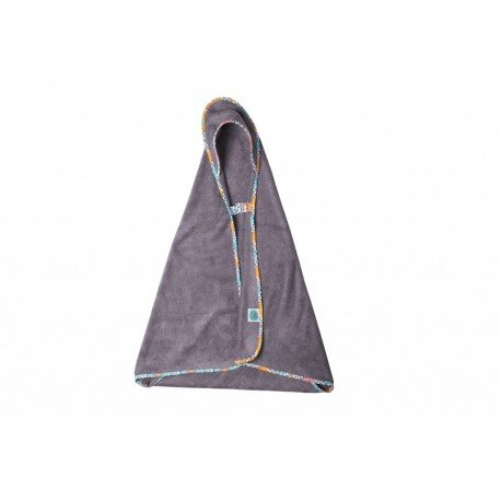 PINK NO MORE TOWEL BAMBOO with hood 0-5 ETHNIC INTENSE