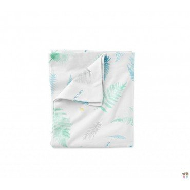 COTTON BEDDING LULLALOVE 100x135cm FERNS MINT