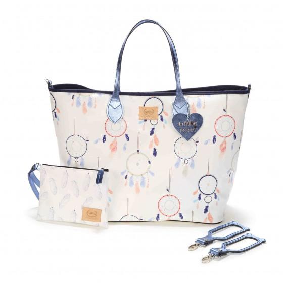 BY KATARZYNA ZIELIŃSKA LA MILLOU FEERIA - MEDIUM BAG WITH A CLUTH - DREAM CATCHER WHITE - PREMIUM