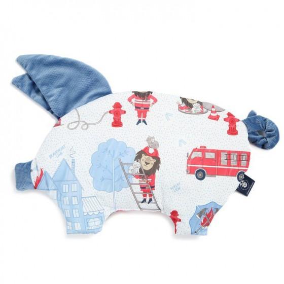 LA Millou BY MACIEJ Zakościelny VELVET COLLECTION pillow SLEEPY PIG BRAVEHEART LION BLUE DENIM