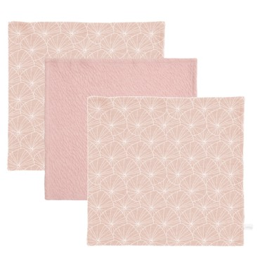 Little Dutch wipes Lily Leaves Pink / Pink Pure 3szt