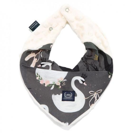 LA Millou very soft scarf ECRU BLACK SWAN