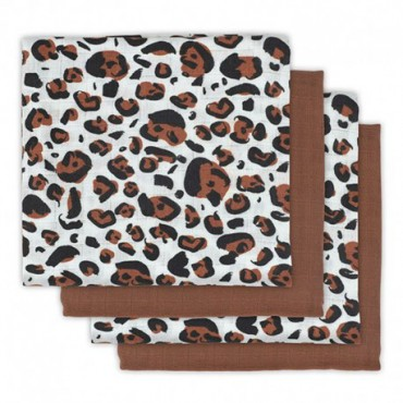 Jollein 4 infant's nappy Hydrophlic 70 x 70 cm Leopard natural