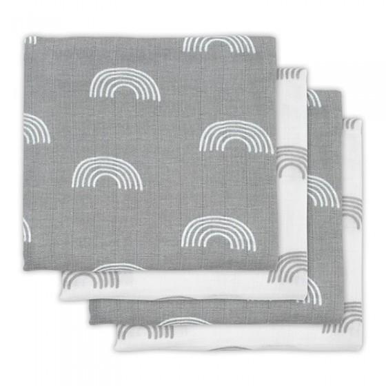 Jollein 4 infant's nappy Hydrophlic 70 x 70 cm Rainbow Gray