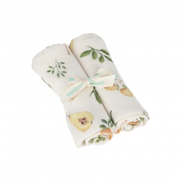 Samiboo - Set of bamboo nappies with a muslin with silver ions fruit 50x50 2 pcs.