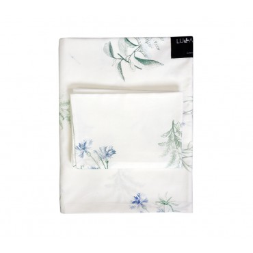 LULLALOVE 100x135 cm cotton sheets HERBARY BLUE