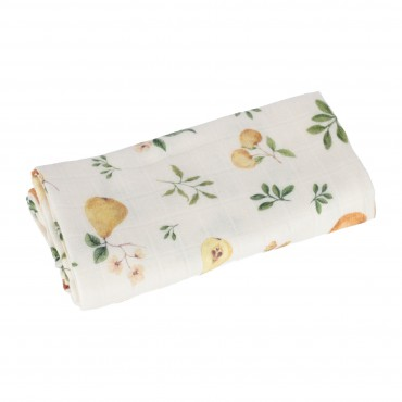 Samiboo - Diaper / otulacz / bamboo muslin blanket with silver ions fruit 100x100 cm