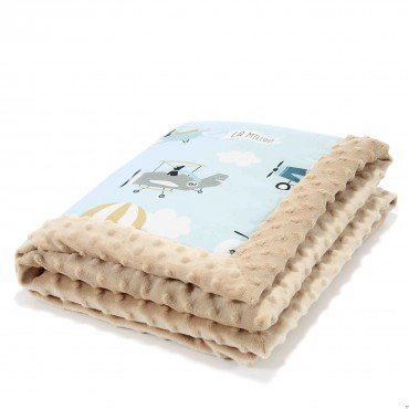 LA MILLOU NEW-BORN BLANKET - CAPTAIN ADVENTURE - LATTE