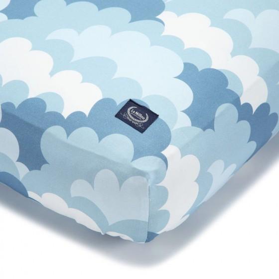 La Millou BEDSHEET GOOD NIGHT 60 x 120 cm - ADVENTURE SKY