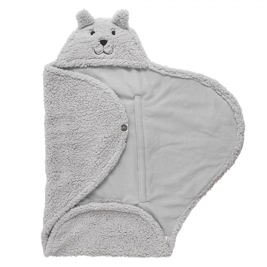 Jollein otulacz Hook-Gray-sleeping bear 105x100cm