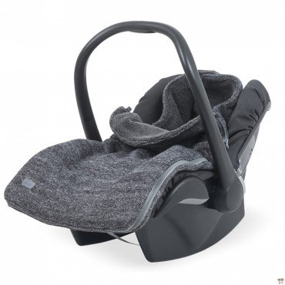 Sleeping bag for winter Jollein seat / gondola Natural Anthracite Knit 0-10 months