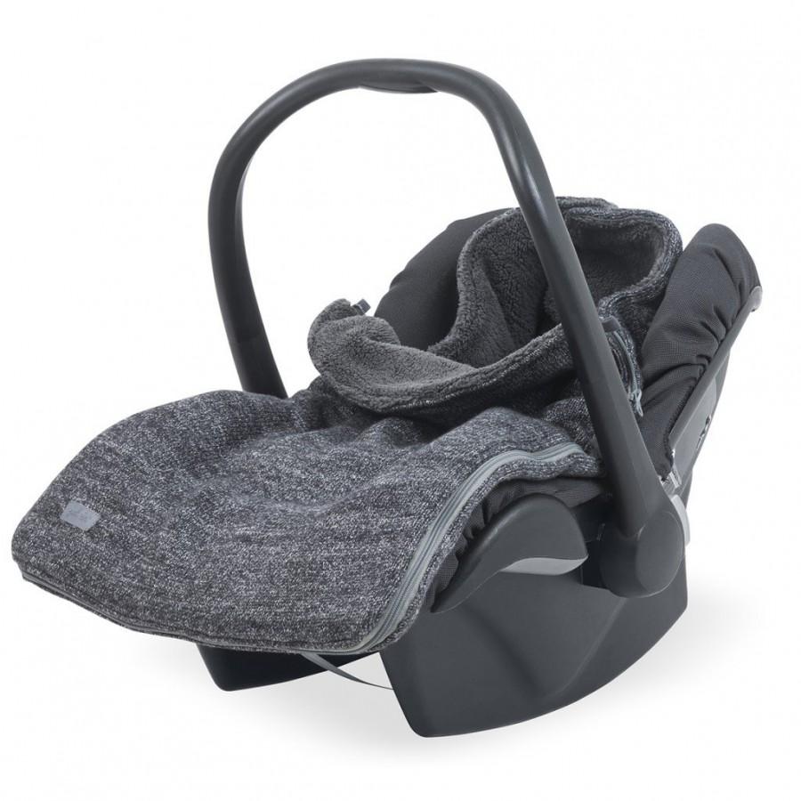 Jollein Śpiworek zimowy do fotelika / gondoli Natural Knit Antracyt 0-10 miesięcy