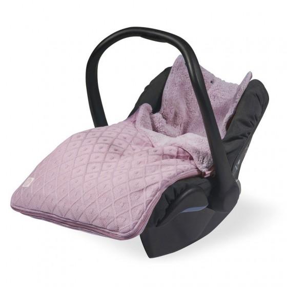 Jollein Śpiworek zimowy do fotelika / gondoli Brudny Róż Diamond 0-10 miesięcy