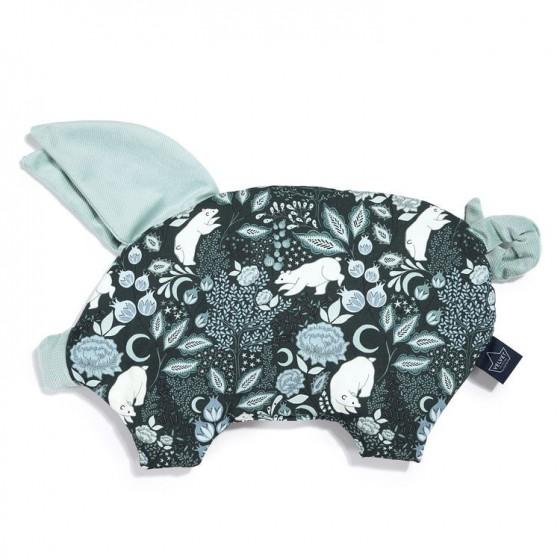 La Millou VELVET COLLECTION - PODUSIA SLEEPY PIG - IT'S A MAGIC - SMOKE MINT