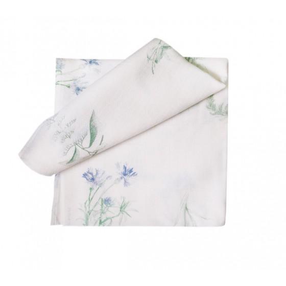 LULLALOVE muslin nappy HERBARY ROSES