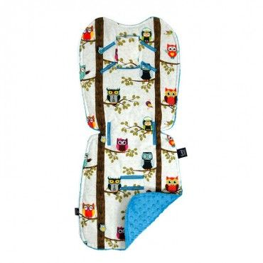 LA Millou stroller PAD FLY BY ANNA - OWL RADIO - Turquoise