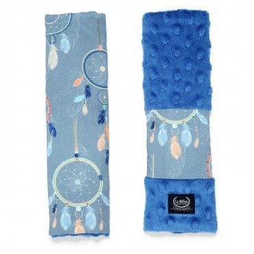 LA MILLOU SEATBELT COVER - DREAMCATCHER - ELECTRIC BLUE