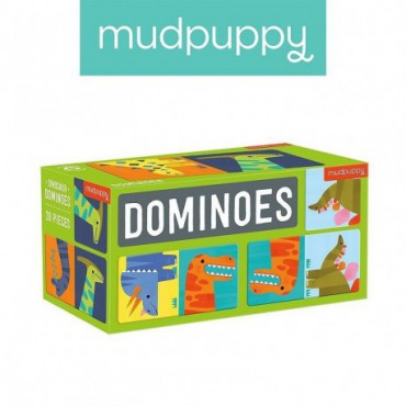 Mudpuppy Domino Game Dinosaurs 28 items 3-8 years