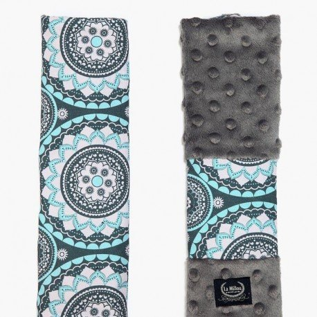 LA MILLOU SEATBELT COVER - MOSAIC - GREY