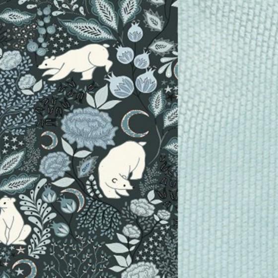 La Millou ORGANIC JERSEY COLLECTION - SEATBELT COVER - IT'S A MAGIC - SMOKE MINT