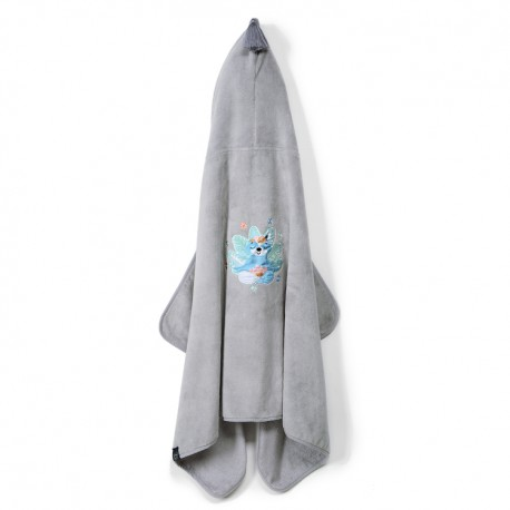 LA MILLOU RĘCZNIK BAMBOO SOFT KID GREY HELLO WORLD