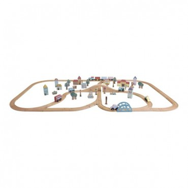Little Dutch Wooden XXL railway - 100 elements