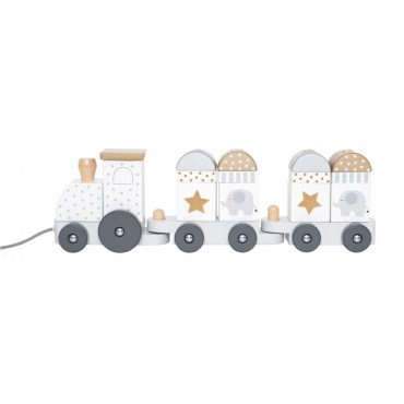 Jabadabado Wooden train with blocks of silver