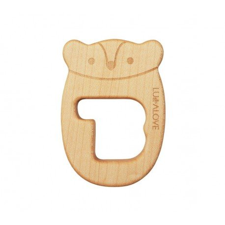 LULLALOVE WOODEN TEETHING MR B MRB