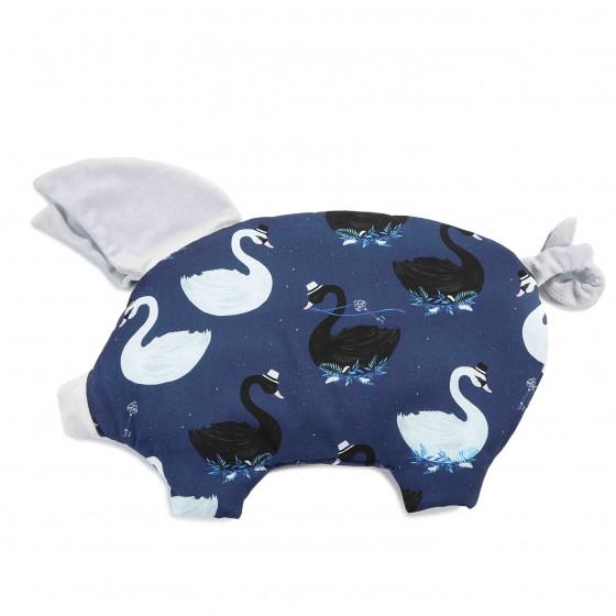 La Millou VELVET COLLECTION - SLEEPY PIG PILLOW - MAGIC SWAN - RAFAELLO