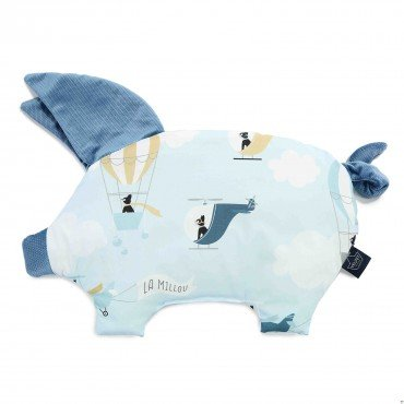 LA MILLOU VELVET COLLECTION PODUSIA SLEEPY PIG CAPTAIN ADVENTURE DENIM