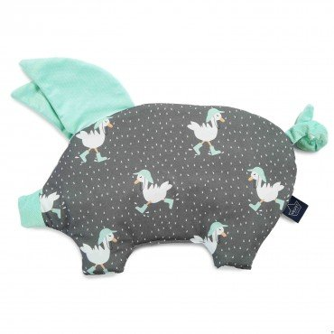 LA MILLOU SLEEPY PIG PILLOW DANCING IN THE RAIN DARK AUDREY MINT