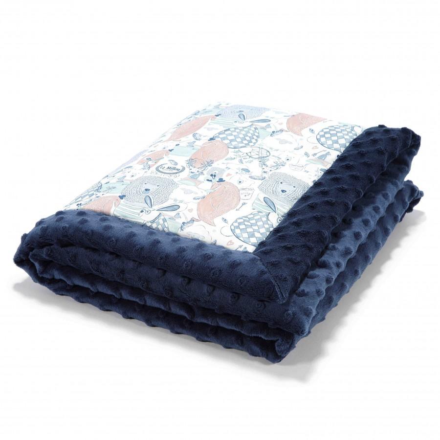 LA LA baby blanket Millou Millou NAVY FAMILY