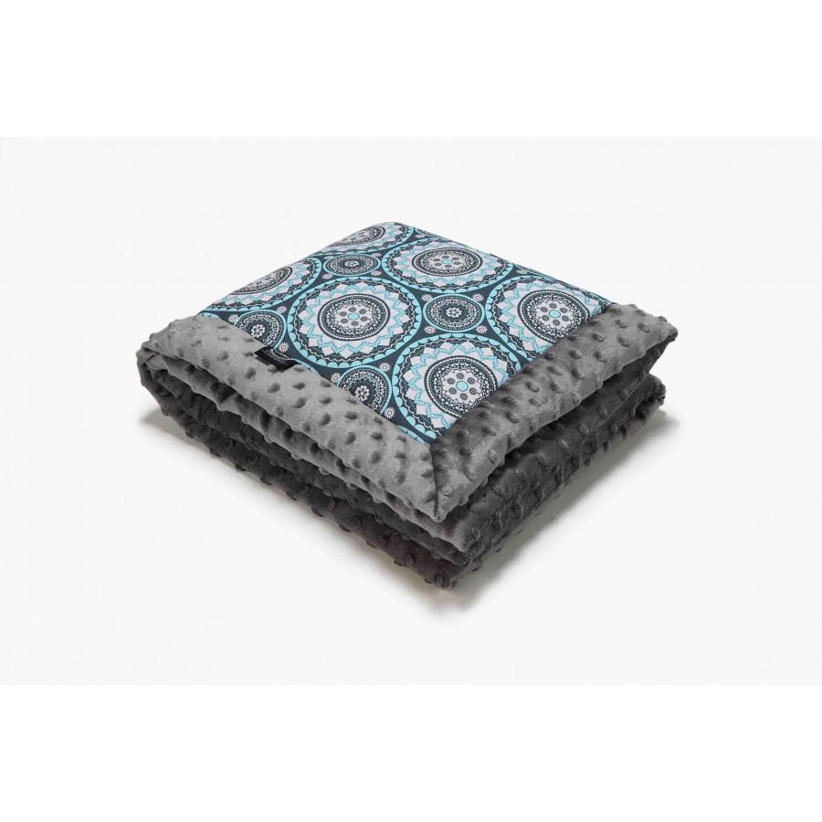LA baby blanket Millou MOSAIC GRAY