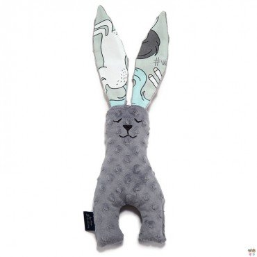 La Millou BUNNY TOY 23CM - TOY BUNNY 23 cm - GREY - UNICORN RAINBOW KNIGHT