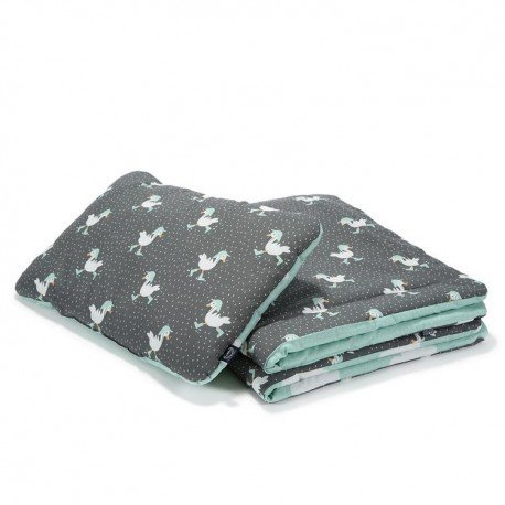 LA Millou bedclothes L Dancing in the Rain DARK - clouds on MINT