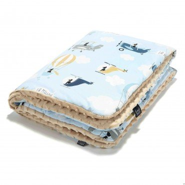 LA Millou blanket Kilkenny CAPTAIN ADVENTURE LATTE