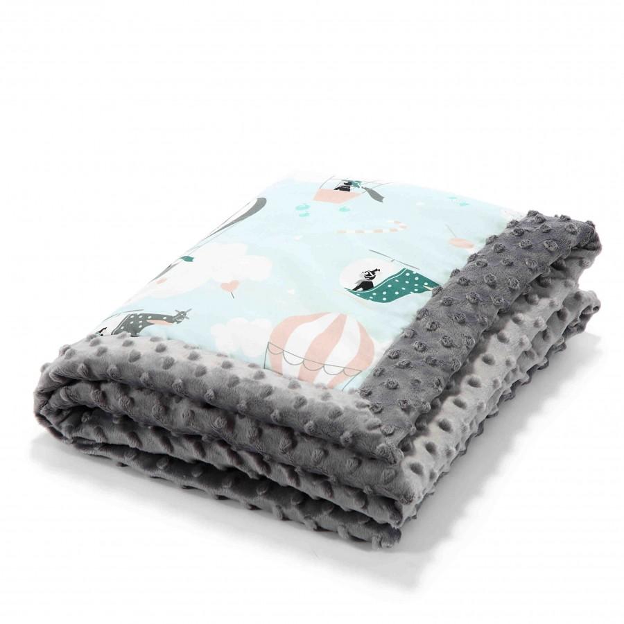 LA baby blanket Millou MISS CLOUDY GRAY