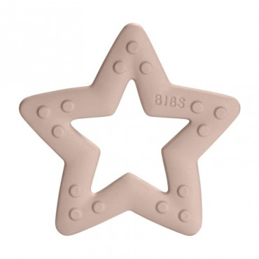 BIBS Baby Bitie STAR Blush teether for a baby