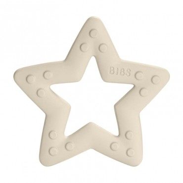BIBS Baby Bitie STAR Ivory teether for a baby