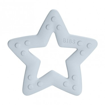 BIBS Baby Bitie STAR Baby Blue teether for a baby