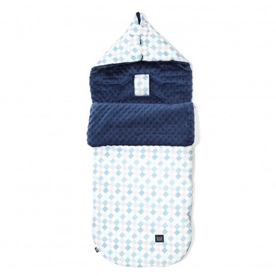 LA Millou stroller sleeping bag BAG PREMIUM M LA Millou CHESSBOARD NAVY FAMILY