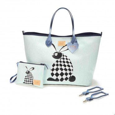 BY KATARZYNA ZIELIŃSKA LA MILLOU FEERIA - LARGE BAG WITH A CLUTH - DREAM CATCHER GREY - PREMIUM