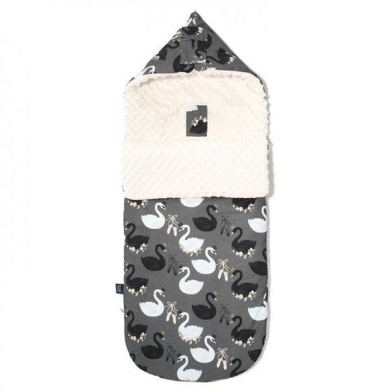 LA Millou stroller sleeping bag BAG PREMIUM BLACK SWAN S ECRU