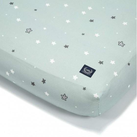 La Millou BY MAJA BOHOSIEWICZ - BEDSHEET GOOD NIGHT 60 x 120 cm - UNICORN RAINBOW KNIGHT STAR