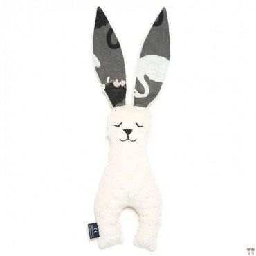 LA Millou TOY RABBIT 23cm ECRU BLACK SWAN