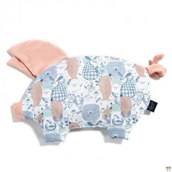 LA Millou VELVET COLLECTION pillow SLEEPY LA Millou FAMILY PIG POWDER BRIGHT PINK