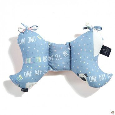La Millou VELVET COLLECTION - ANTISHAKE PILLOW ANGEL''S WINGS - DOGGY UNICORN STORY - POWDER PINK