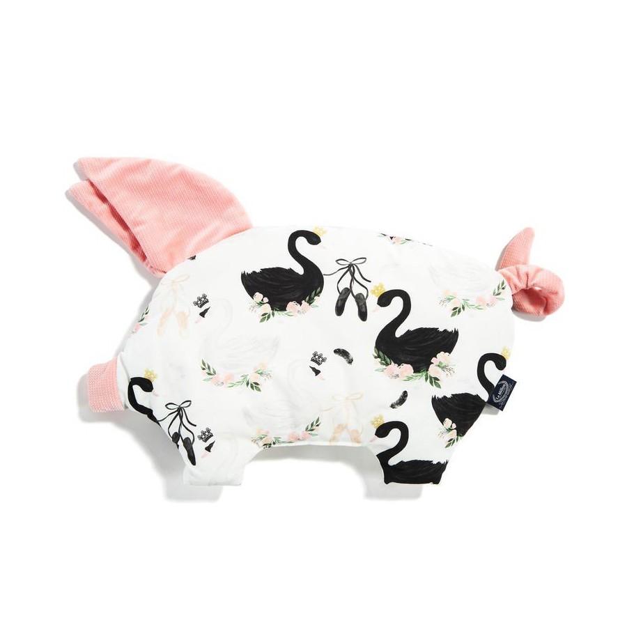 LA MILLOU PODUSIA SLEEPY PIG MOONLIGHT SWAN POWDER PINK VELVET