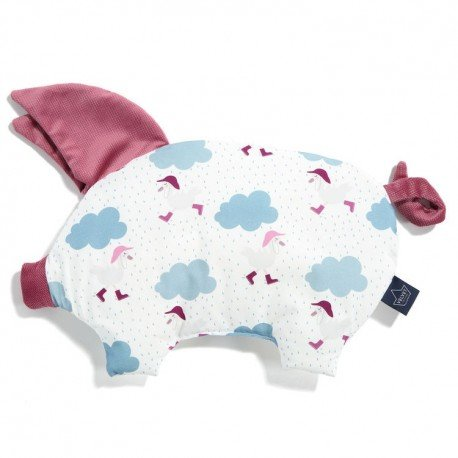 LA Millou VELVET COLLECTION pillow SLEEPY PIG Dancing in the